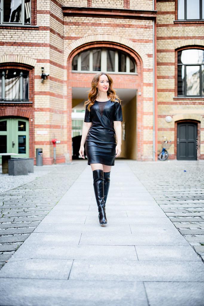 Frankfurt Eins Blog Transparentem Mit Lederkleid Fashion ZNwOnkX08P