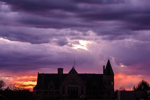 sunset silhouette clouds indiana richmond courthouse waynecounty photobyjane holmanphotoscom holmanphotography