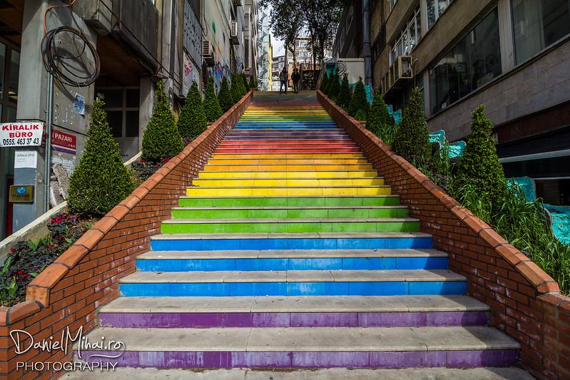 Rainbow stairs - Istanbul by Daniel Mihai