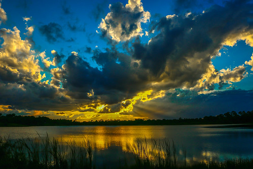 blue sunset sky usa sun nature clouds canon outside outdoors photography gold photo florida cloudy photograph fortpierce 70d georgelestrangepreserve