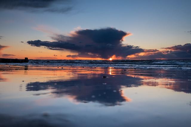 Stormy Totland Sunset - DSCF8295