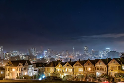 sanfrancisco street longexposure travel classic home architecture night landscape cityscape view paintedladies ndfilter nikond5300