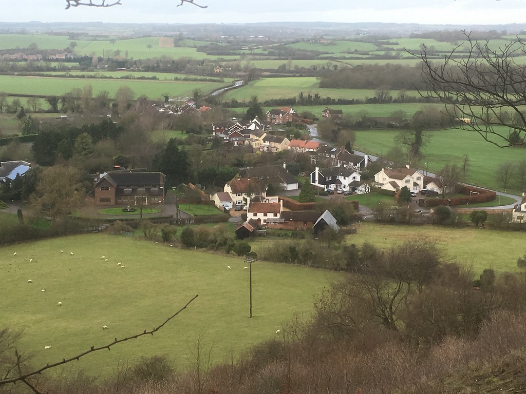 View from the hill fort Harlington Circular walk