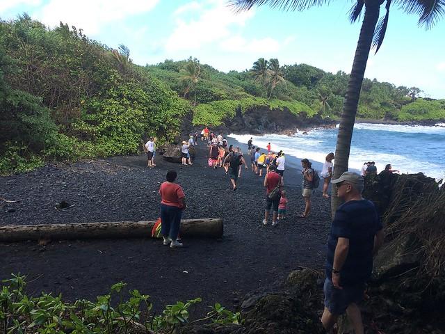 Black sand beach! Black sand beach!