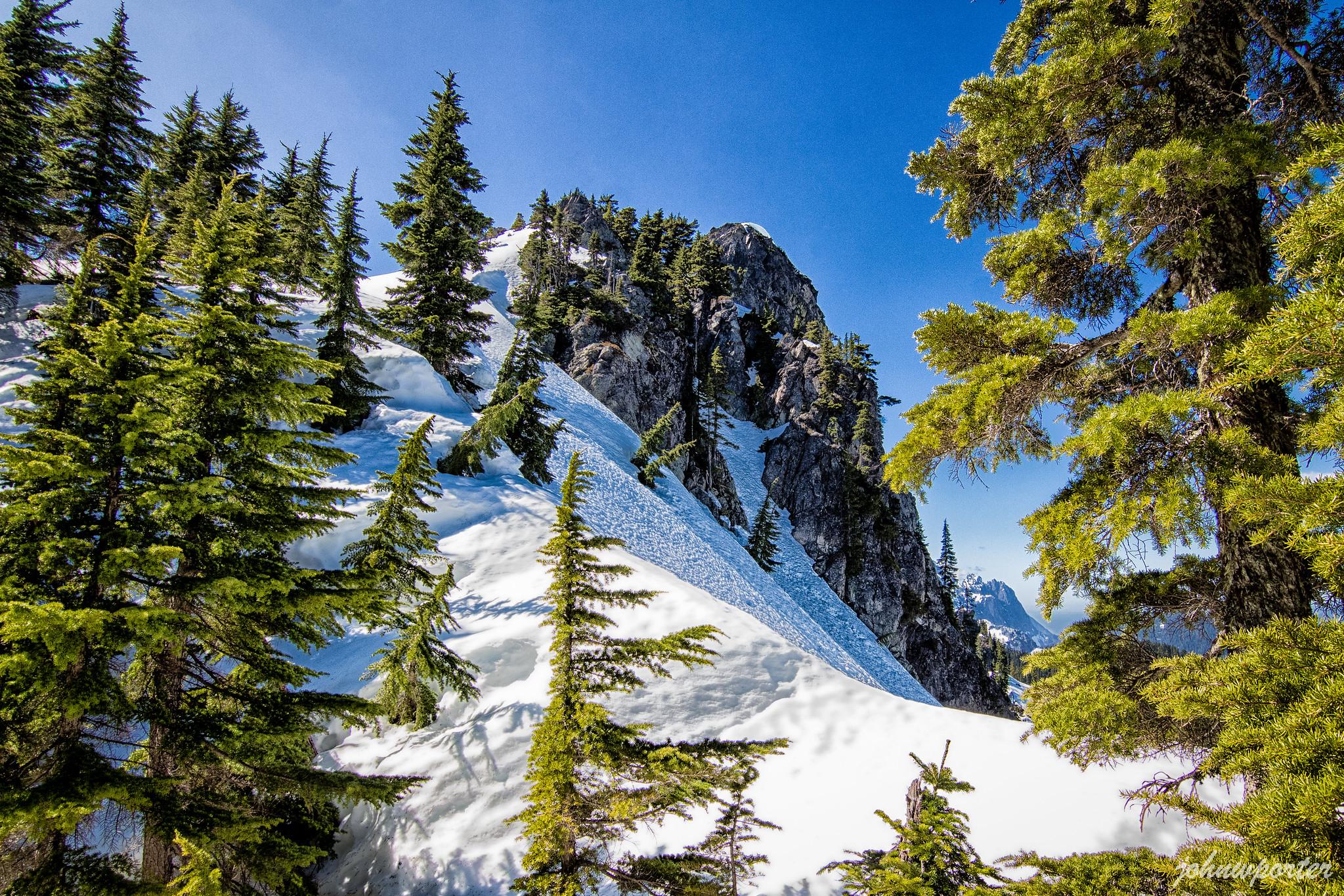 Palmer Mountain summit above