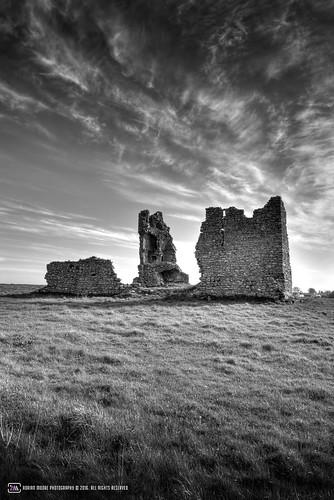 landscape kiltullagh ruin castle loughrea galway ireland history photography clogharevaun tower clouds sky eire connacht