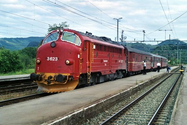 NOHAB 3623 te Støren op 5-7-2000 (SCAN)