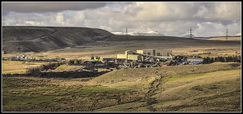 railway coal colliery gelligaercommon opencastmine cwmbargoed loadingpoint