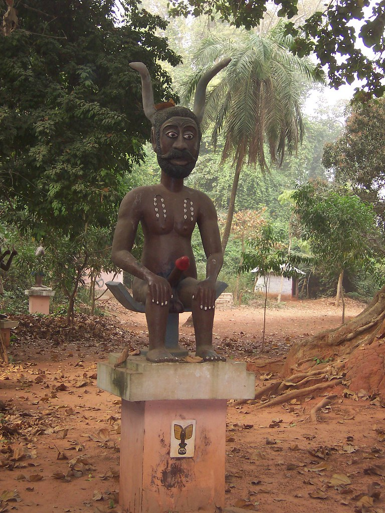 Legba Statue Sacred Forest Ouidah Benin If I