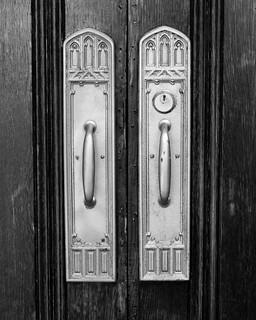 Detail, Doors of the First Presbyterian Church, Royal Oak, Michigan   by Conlawprof