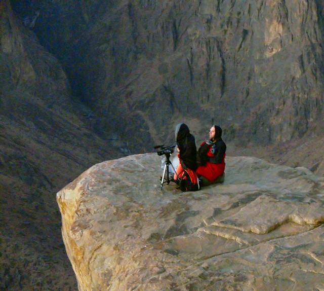 Waiting for the Sunrise on Mount Sinai