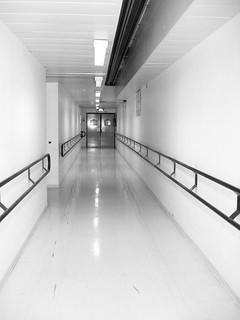 Hospital corridor, in gray | by Julie70 Joyoflife