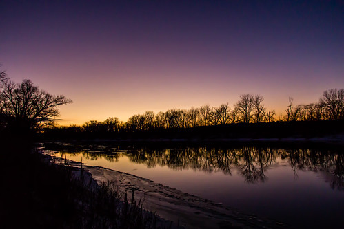 trees winter sunset reflection water canon river t3i 2016 minnesotariver
