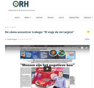 Artículo en web - Observatorio Recursos Humanos (20.11.2015) - castellano | by michiel.das
