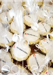 Packaged Corporate Logo Cupcakes