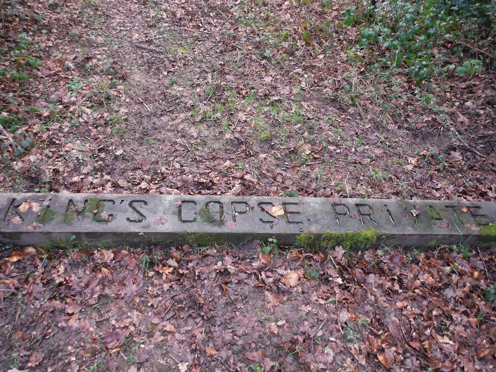 King's Copse waymarker, Stanford Dingley SWC Walk 117 Aldermaston to Woolhampton (via Stanford Dingley)