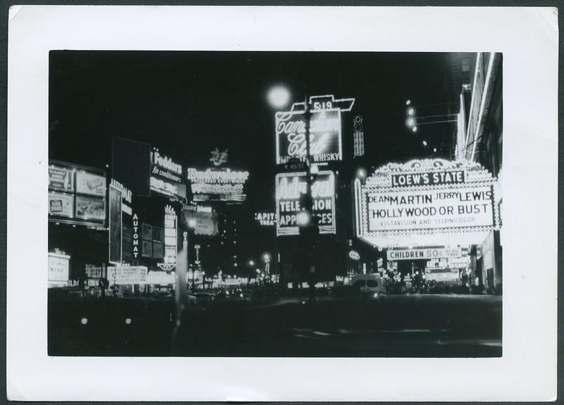 Archiv D548 New York bei Nacht, USA 1950er