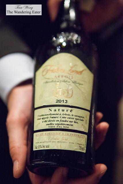 The second wine pairing, Savagnin, Domaine Frederic Lornet, Arbois, Jura, France 2013