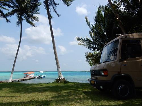 Bacalar - kamperen aan de laguna