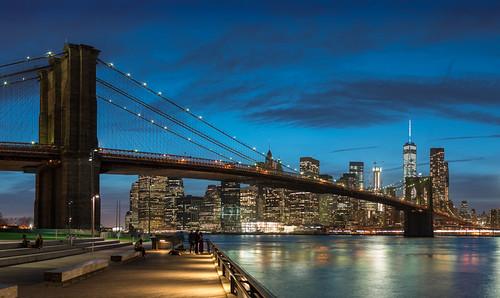 park nyc newyorkcity bridge blue sky urban newyork water architecture brooklyn manhattan brooklynbridge bluehour nuevayork urbain ニューヨーク 紐約 紐約市 曼哈頓 マンハッタン ニューヨーク市 ciudaddenuevayork