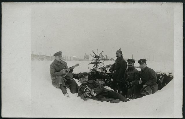 Archiv EE215 Weihnachtskarte, Erster Weltkrieg, 1914-1918