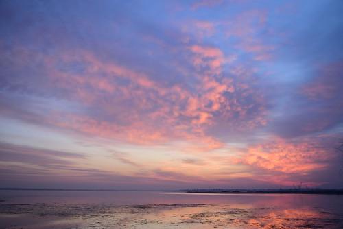 blue sunset red sea sky orange colors beauty clouds digital sunrise river nikon heaven tides maio2016