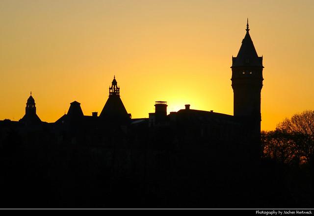 Spuerkeess @ Sunset, Luxembourg City, Luxembourg