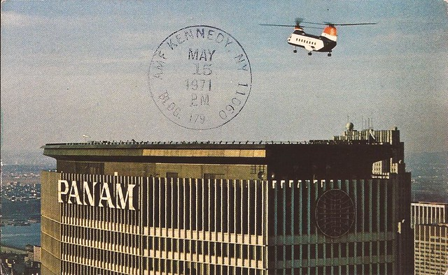 Pan Am Building New York City vintage postcard - postmarked May 15, 1971