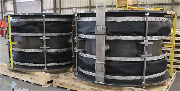 Hinged Fabric Expansion Joints for a Chemical Plant in Delaware
