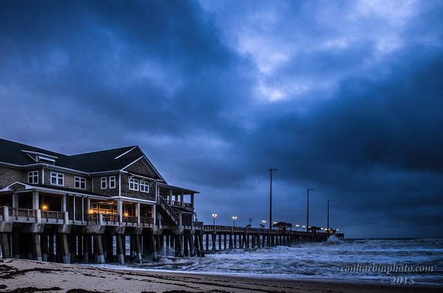 Jennette's Pier After Hurricane Joaquin