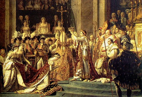 Napoleon crowning himself Emperor