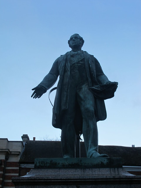 Lord Palmerston's Statue, Romsey SWC Walk 58 Mottisfont and Dunbridge to Romsey taken by Karen C.