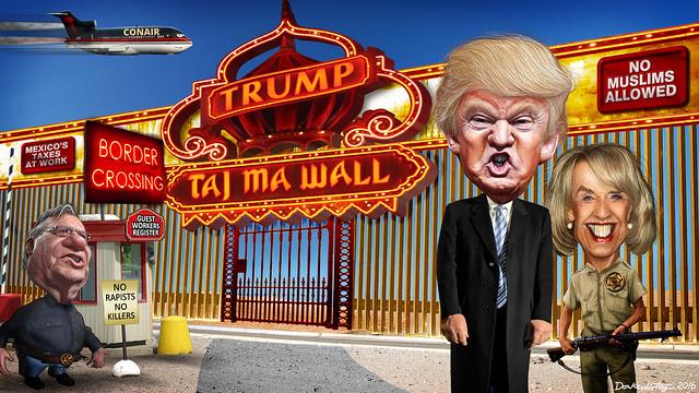 Donald Trump's Taj Ma WALL