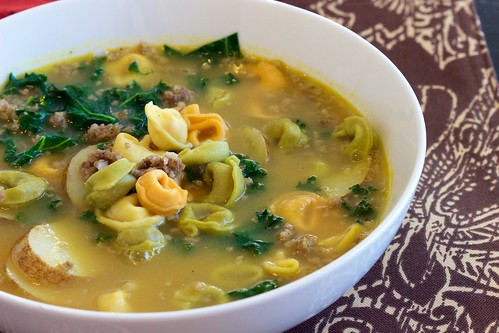 Potato Sausage Kale Soup with Tortellini Featured 02 | by Chris Mower