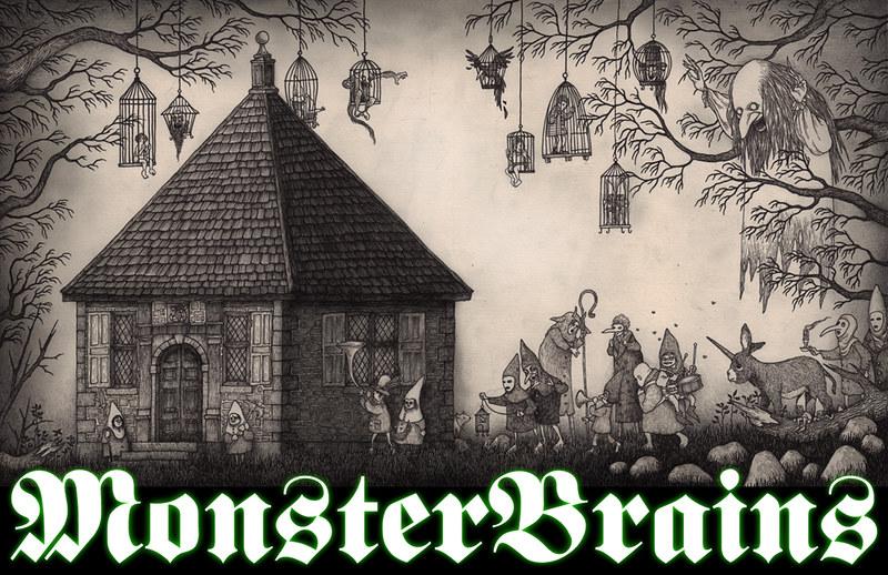 MONSTER BRAINS LOGO - John Kenn Mortensen