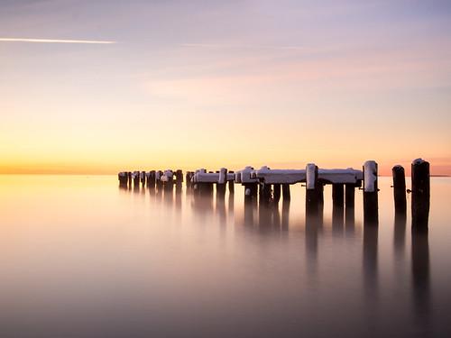 olympus ep5 panasonic 20mmf17 milford connecticut ct walnutbeach pier winter morning february 2016 long island sound exposure sunrise fav25 shoreline fav45