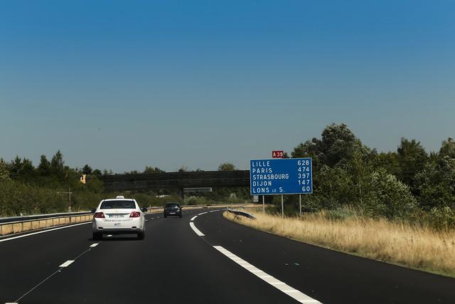Autoroute A39 - Viriat (France)