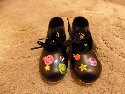 Evies old tap dancing shoes with stickers | by Ambernectar 13