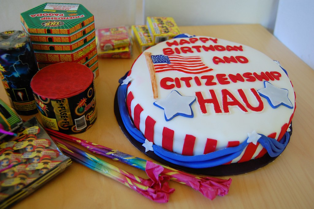 Fine Patriotic Cake Flickr Gingr Flickr Funny Birthday Cards Online Fluifree Goldxyz