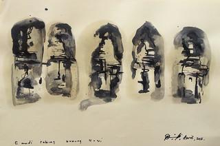 Pande Wayan Suputra Guinung Kawi, 20 x 30 cm Ink on Paper 2016