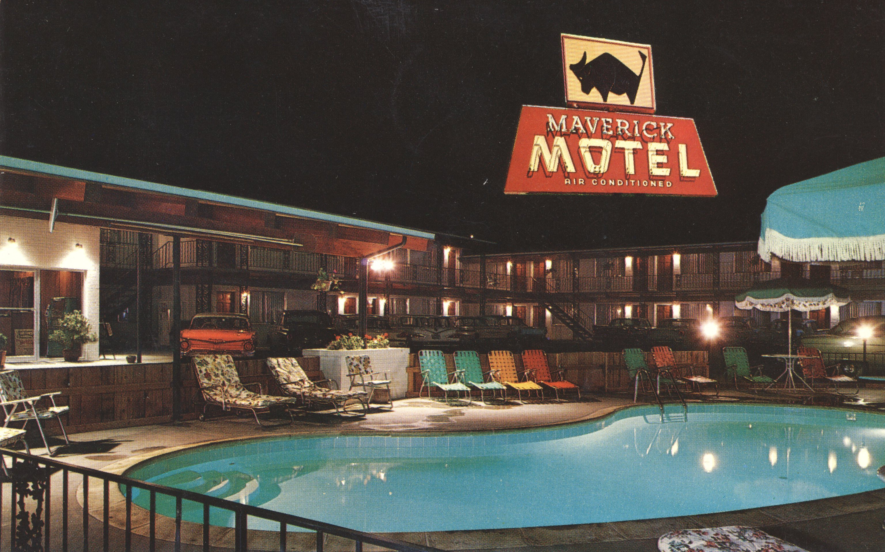 Maverick Motel - 10 Southeast Dorion Avenue, Pendleton, Oregon U.S.A. - date unknown