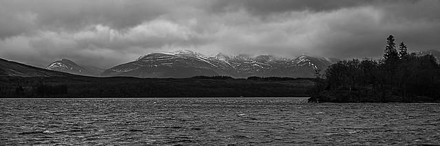 Loch Arkaig in Mono