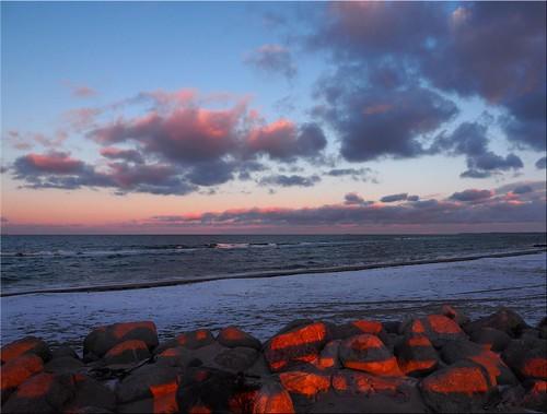 light eveningsun stones balticsea steine sunsetlight ostsee januar abendsonne 2016 abendlicht ostseeleuchte