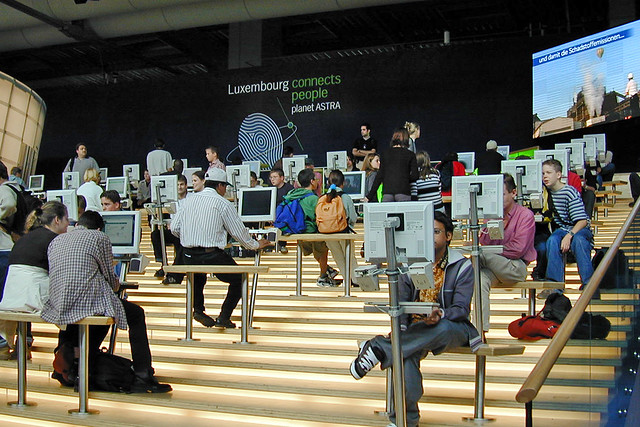 Le pavillon du Luxembourg à l'Exposition Universelle de 2000 (Hanovre, Allemagne)