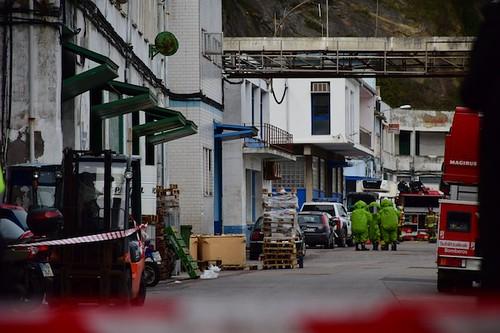 Leherketa Ondarroako portuko izotz fabrikan
