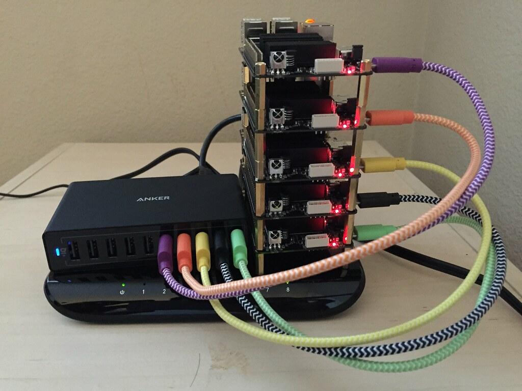 odroid c2 cluster - front view   5 nodes Docker Cluster  1 x…   Flickr