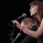 Fri, 18/03/2016 - 1:27pm - CHVRCHES Live at SXSW Day stage powered by VuHaus, 03.18.2016 Photographer: Sarah Burns