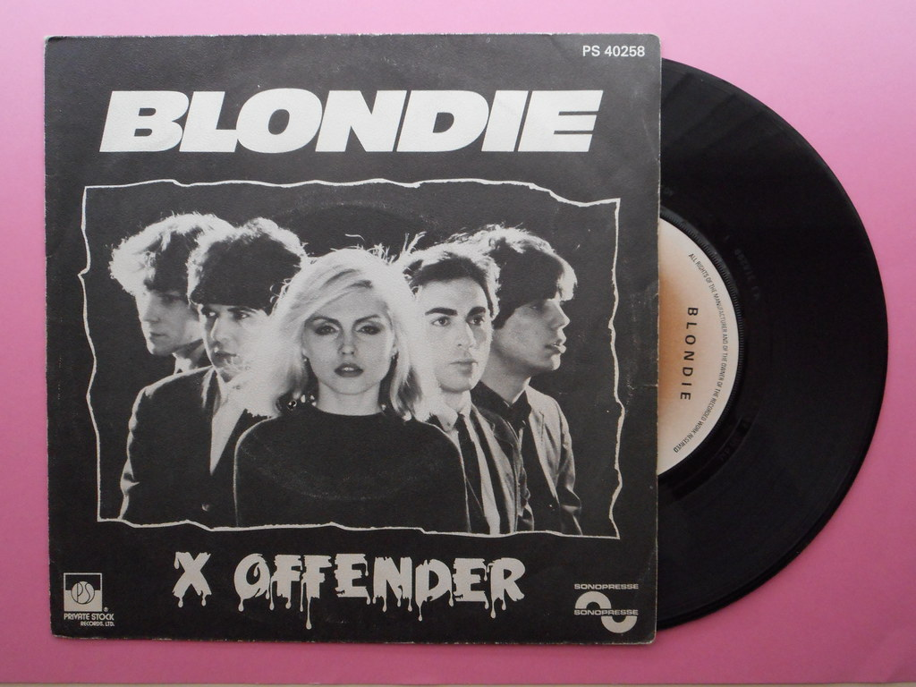 "BLONDIE ""X OFFENDER"" FRENCH SINGLE 