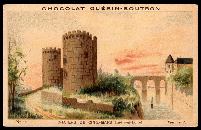 French Tradecard - Chateau de Cinq-Mars