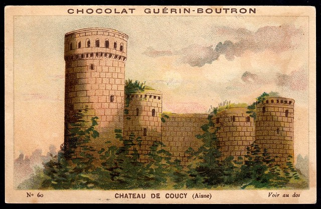 French Tradecard - Chateau de Coucy